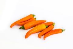 Oranje hete Spaanse pepers Royalty-vrije Stock Afbeelding