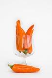 Oranje hete Spaanse pepers Stock Foto