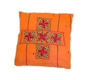 Oranje hoofdkussen Stock Afbeelding