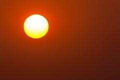 Oranje Horizontale Zonsondergang Stock Foto's