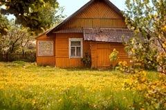 Oranje huis stock fotografie