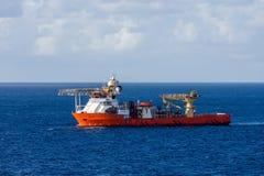 Oranje Industrieel Schip Royalty-vrije Stock Fotografie