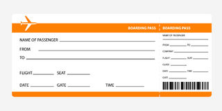 Oranje instapkaart Royalty-vrije Stock Fotografie