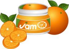 Oranje Jam Royalty-vrije Stock Foto