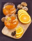Oranje jam Royalty-vrije Stock Afbeeldingen