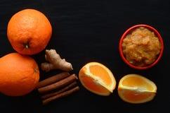 Oranje jam Stock Fotografie