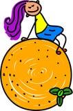 Oranje jong geitje royalty-vrije illustratie