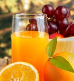 Oranje Juice Squeezed Represents Healthy Eating en Drank royalty-vrije stock fotografie