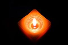 Oranje Kaars Stock Afbeelding