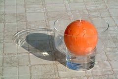 Oranje kaars royalty-vrije stock afbeelding