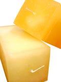 Oranje kaars twee Stock Afbeelding
