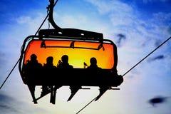 Oranje kabelbaan Stock Foto's