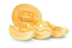 Oranje kantaloepmeloen stock afbeeldingen