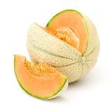 Oranje kantaloepmeloen i stock foto