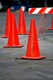 Oranje kegels Royalty-vrije Stock Foto's