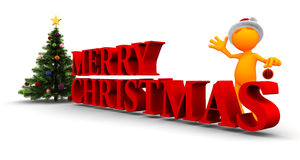 Oranje Kerel: Vrolijke Kerstmis aan u Stock Foto