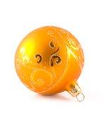 Oranje Kerstmisstuk speelgoed Stock Foto