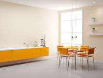 Oranje keuken Stock Afbeeldingen