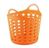 Oranje kleuren plastic mand Royalty-vrije Stock Afbeeldingen