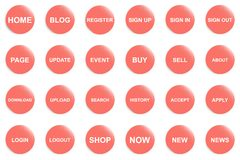 Oranje knoop voor website of app vector illustratie