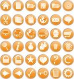 Oranje knopen Royalty-vrije Stock Foto