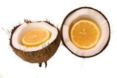 Oranje kokosnoot Stock Fotografie