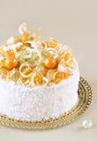 Oranje Kokosnotencake Royalty-vrije Stock Afbeelding