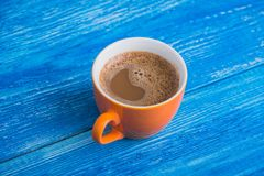 Oranje kop van koffie Royalty-vrije Stock Foto