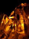 Oranje Kristal Stock Foto