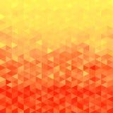 Oranje kristalachtergrond Het patroon van de driehoek Oranje Achtergrond royalty-vrije illustratie