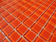 Oranje kristalglas Stock Foto