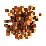 Oranje kubussen Stock Afbeeldingen