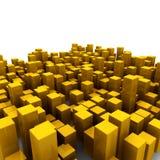 Oranje kubussen Royalty-vrije Stock Fotografie