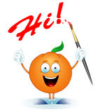 Oranje-kunstenaar Stock Foto