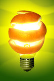 Oranje Lamp Royalty-vrije Stock Afbeeldingen