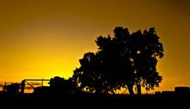 Oranje landschap royalty-vrije stock foto