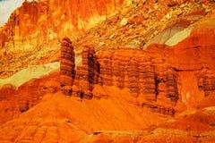 Oranje landschap Royalty-vrije Stock Foto's