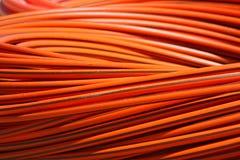 Oranje lange kabel royalty-vrije stock fotografie