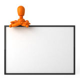 Oranje ledenpop Royalty-vrije Stock Afbeelding