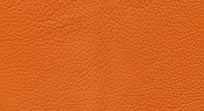 Oranje leer Royalty-vrije Stock Afbeeldingen
