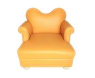 Oranje leerstoel Royalty-vrije Stock Foto's