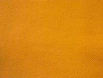 Oranje leertextuur Stock Foto