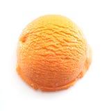 Oranje lepel van roomijs Stock Foto