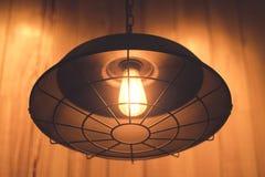 Oranje licht van lamp Stock Afbeeldingen