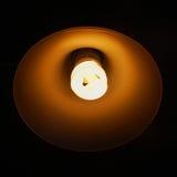 Oranje Lichte Verlichte Lamp Stock Foto's