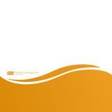 Oranje lijnen abstracte vectorachtergrond Stock Afbeeldingen