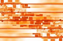 Oranje lijnen en vierkante abstracte achtergrond Stock Foto