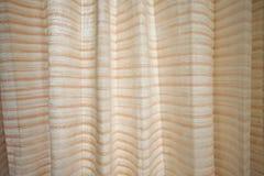 Oranje Lijnen Golvend Gordijn Royalty-vrije Stock Afbeelding