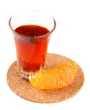 Oranje likeur en citrusvruchtenplakken Royalty-vrije Stock Fotografie