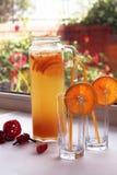 Oranje limonade Stock Fotografie